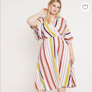 Eloquii striped dolman sleeve dress